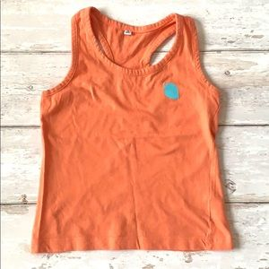 Toddler Girls Tank Top 3T Orange Racerback